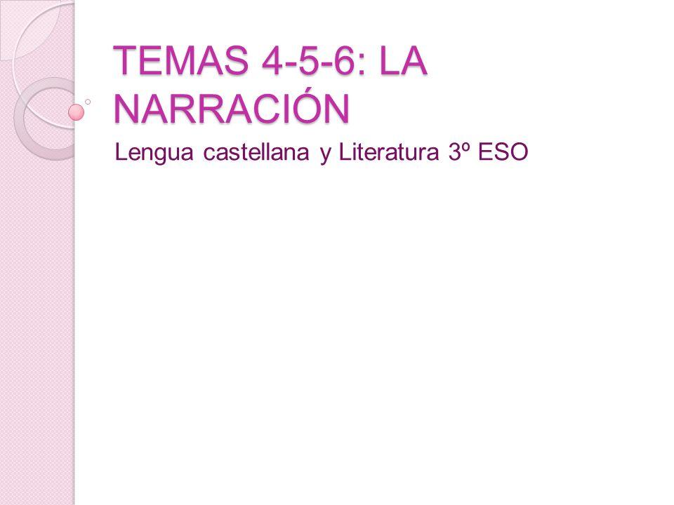TEMAS 4-5-6: LA NARRACIÓN Lengua castellana y Literatura 3º ESO