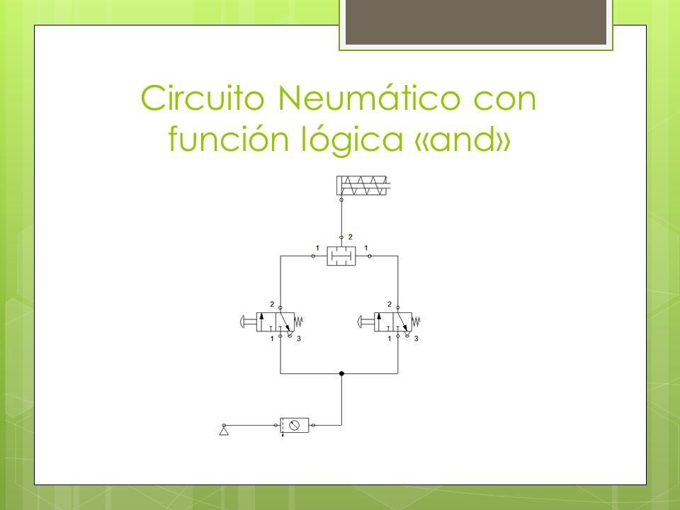 Circuito Neumático con función lógica «and»
