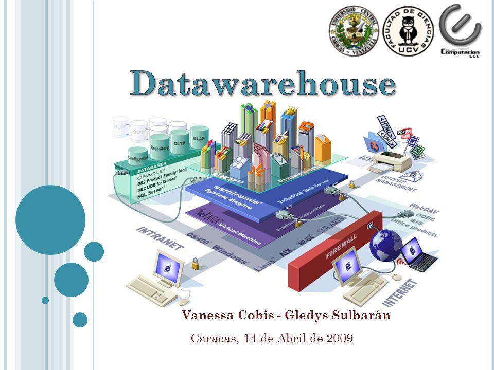 Vanessa Cobis- Gledys Sulbarán A GENDA Introducción Conceptos Básicos Características de un Data Warehouse Arquitectura de un DW Los objetivos fundamentales de un Data Warehouse Beneficios e Inconvenientes de un DW Las razones para que una organización implemente un DW Formas de modelar un DW Base de datos Vs Datawarehouse Caso de estudio: Pentaho Conclusión 2/30