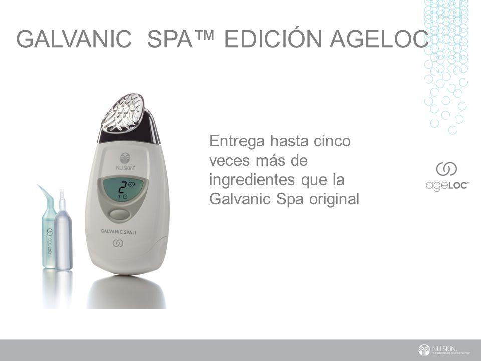 GALVANIC SPA EDICIÓN AGELOC Entrega hasta cinco veces más de ingredientes que la Galvanic Spa original