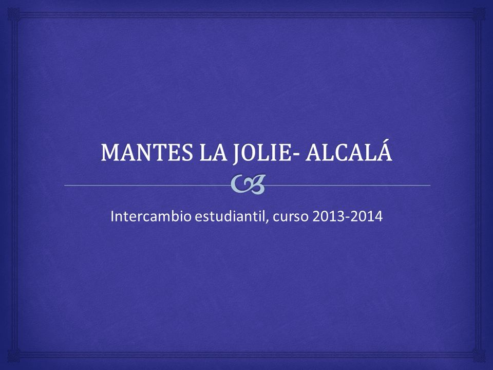 Intercambio estudiantil, curso 2013-2014