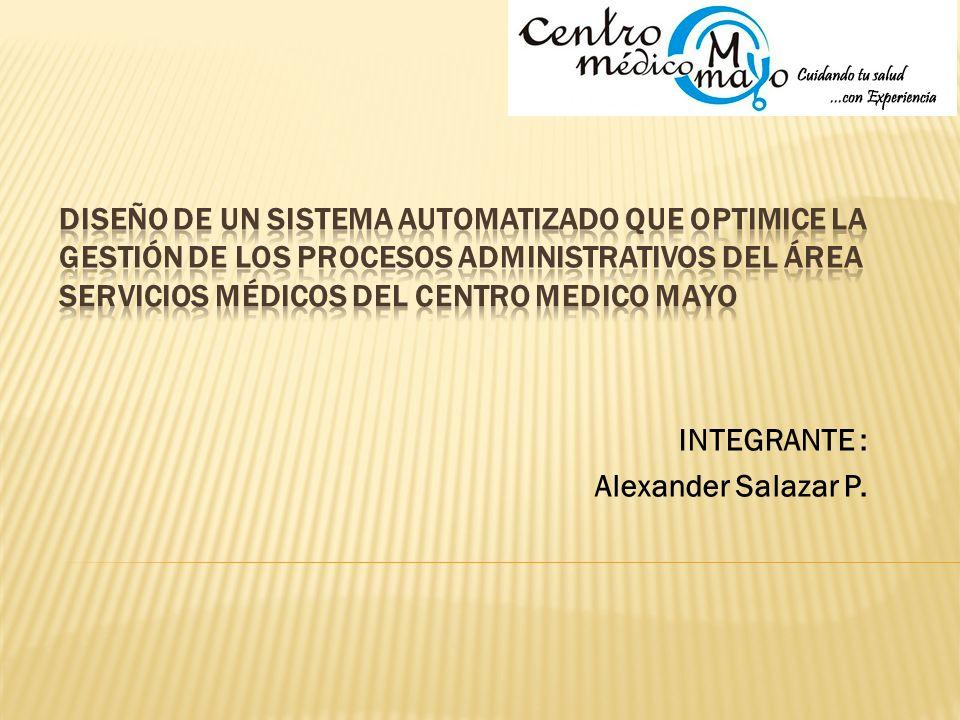 INTEGRANTE : Alexander Salazar P.