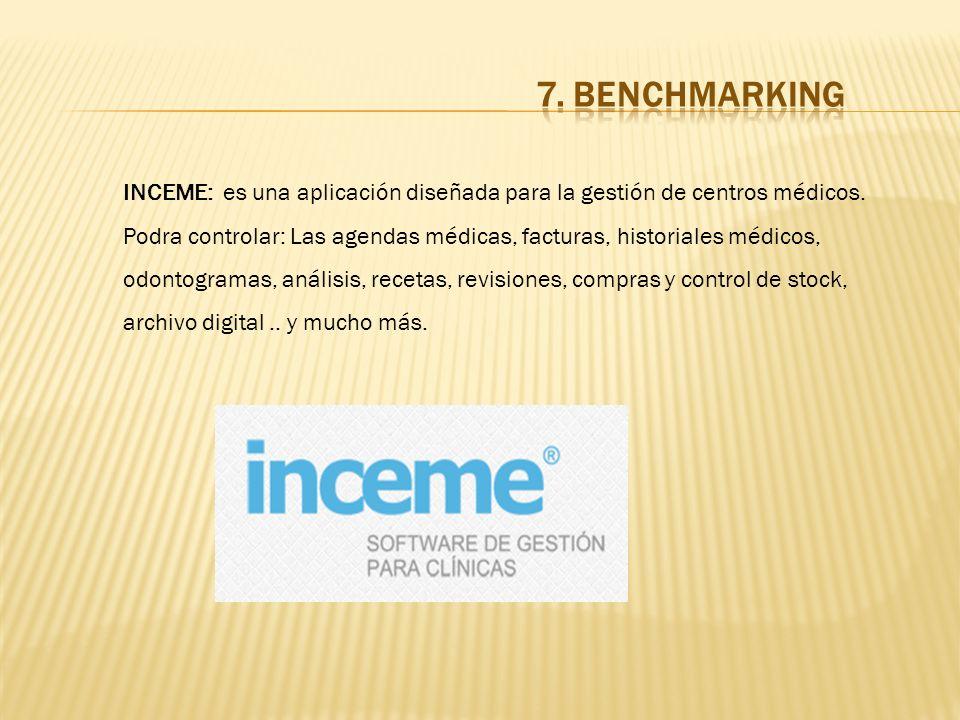 INCEME: es una aplicación diseñada para la gestión de centros médicos. Podra controlar: Las agendas médicas, facturas, historiales médicos, odontogram