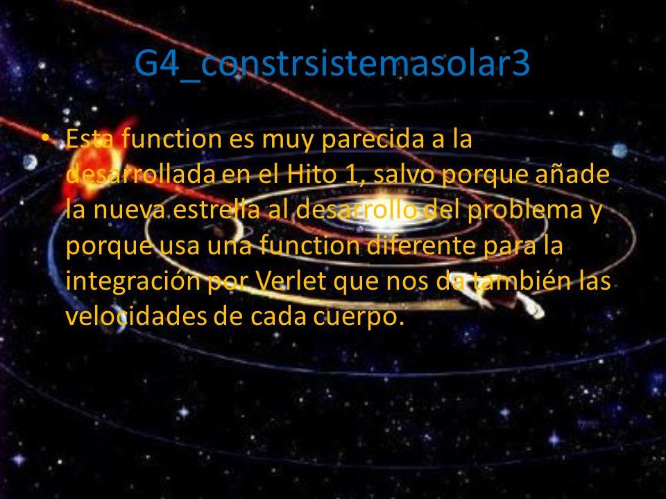 G4_constrsistemasolar3 Esta function es muy parecida a la desarrollada en el Hito 1, salvo porque añade la nueva estrella al desarrollo del problema y