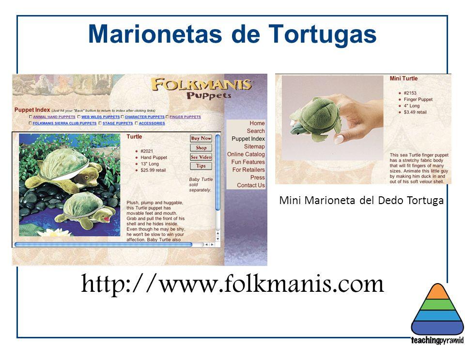 Marionetas de Tortugas http://www.folkmanis.com Mini Marioneta del Dedo Tortuga