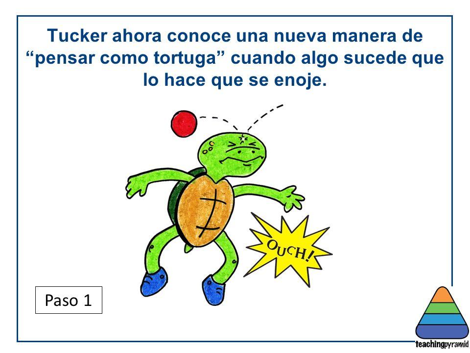 Tucker ahora conoce una nueva manera de pensar como tortuga cuando algo sucede que lo hace que se enoje.