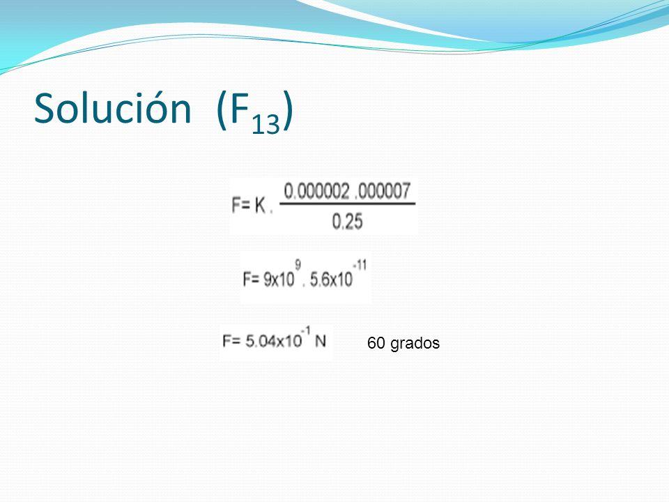 Solución (F 13 ) 60 grados