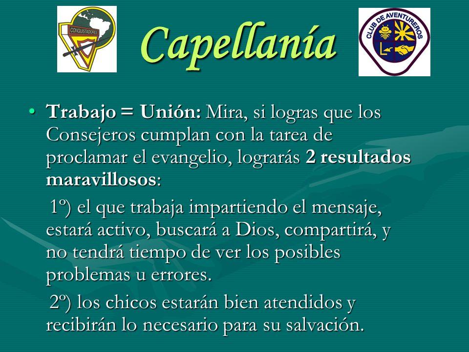 Capellanía Planificación: El Capellán debe planificar.