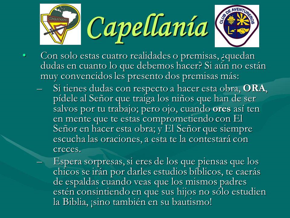 Capellanía FUNCIONES DEL CAPELLÁN Meditación con Líderes: Es muy positivo comenzar las actividades diarias de club con una meditación entre los Líderes.