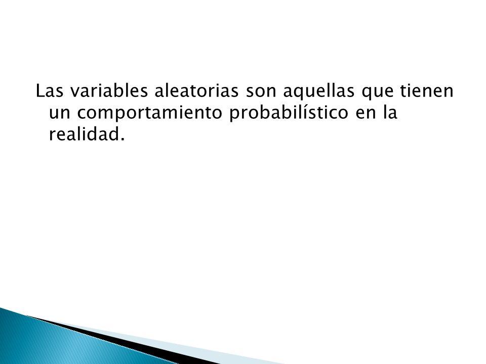 Podemos diferenciar las variables aleatorias de acuerdo con el tipo de variables aleatorias que representan.