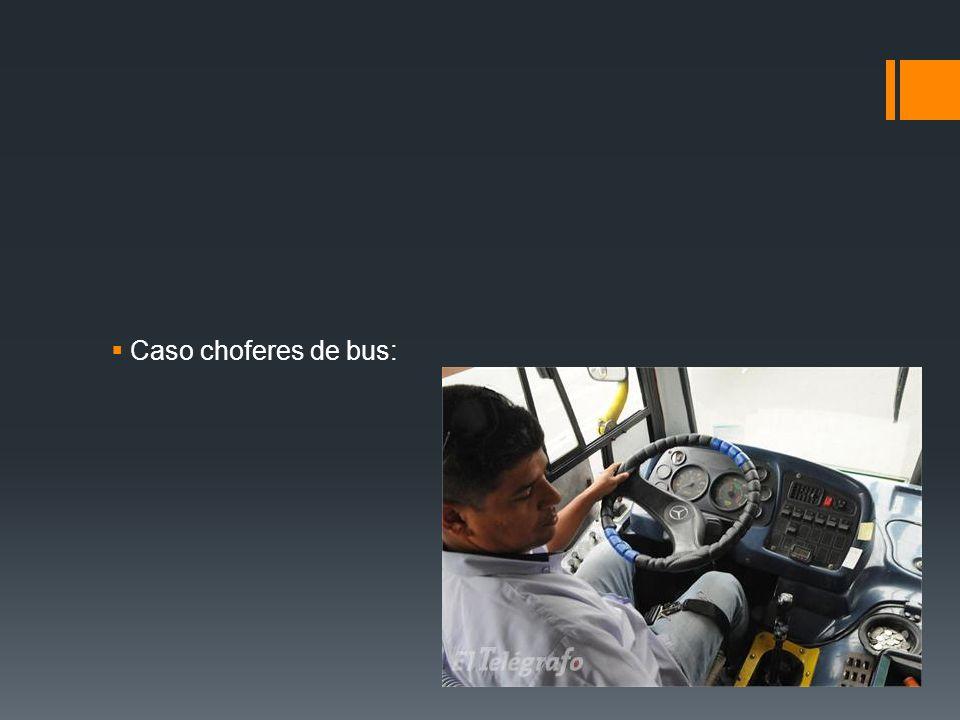 Caso choferes de bus: