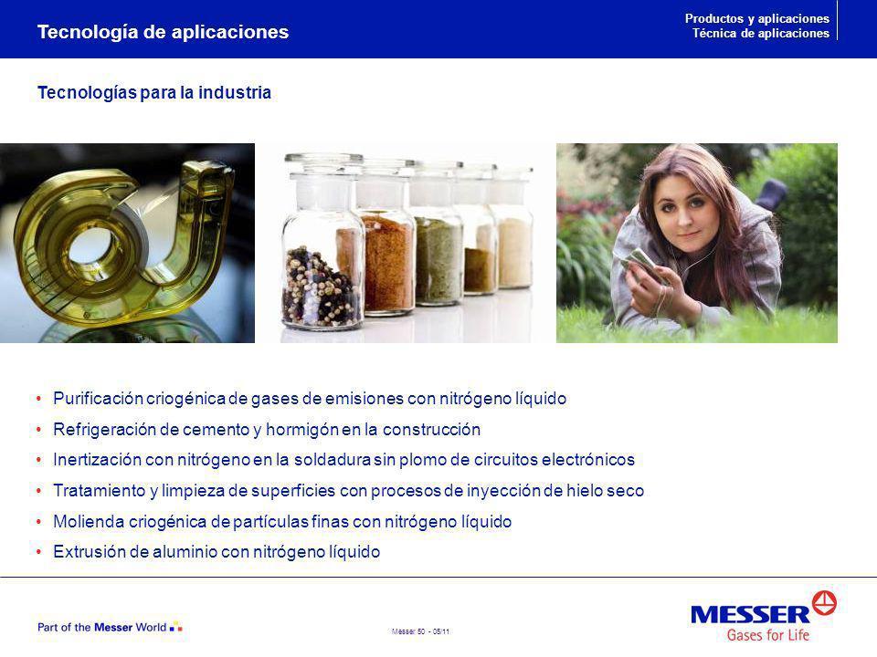 Messer 50 - 05/11 Purificación criogénica de gases de emisiones con nitrógeno líquido Refrigeración de cemento y hormigón en la construcción Inertizac