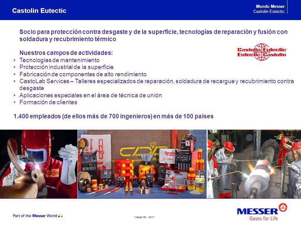 Messer 58 - 05/11 Castolin Eutectic Socio para protección contra desgaste y de la superficie, tecnologías de reparación y fusión con soldadura y recub