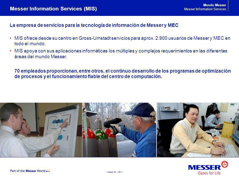 Messer 63 - 05/11 La empresa de servicios para la tecnología de información de Messer y MEC MIS ofrece desde su centro en Gross-Umstadt servicios para