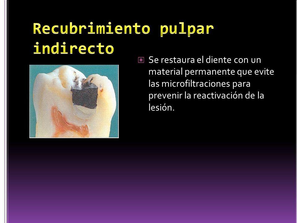 El problema de esta practica radica en que no es fácil medir la profundidad de la lesión cariosa que queda ya que se podría reactivar debido a las microfiltraciones o puede ocasionar necrosis pulpar.