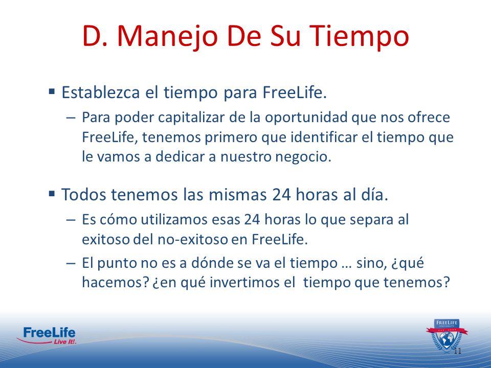 12 D.Manejo De Su Tiempo Donde usted está hoy es el resultado de sus decisiones de ayer.