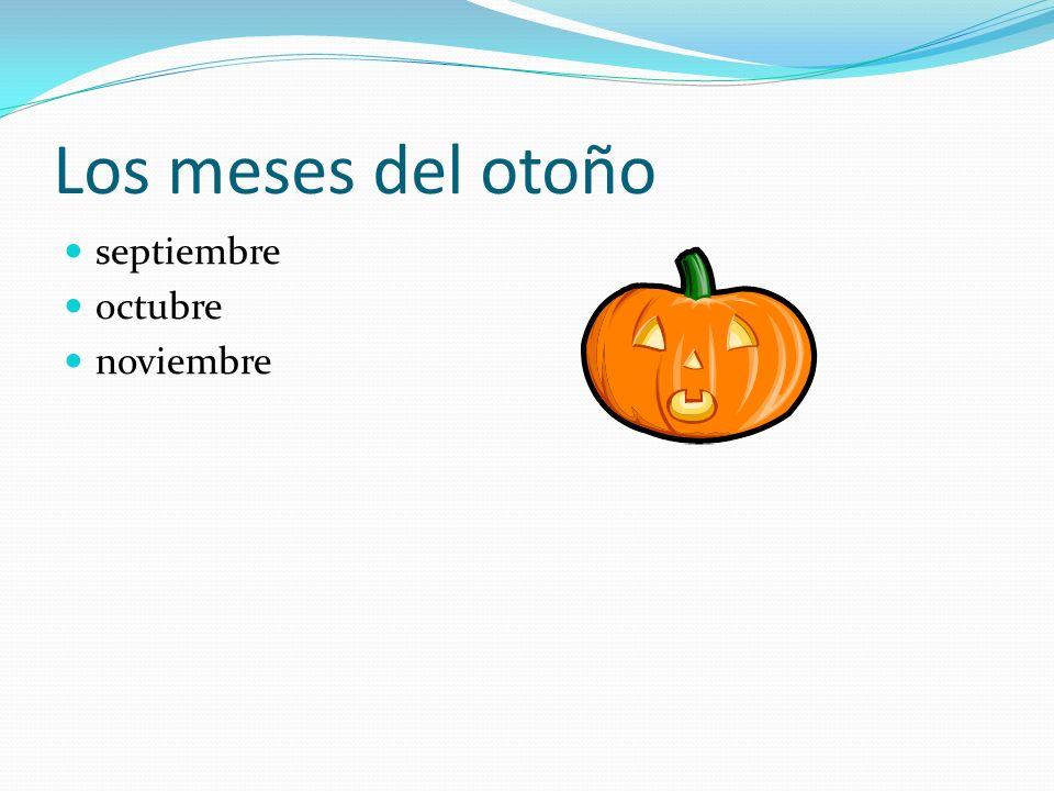 Los meses del otoño septiembre octubre noviembre