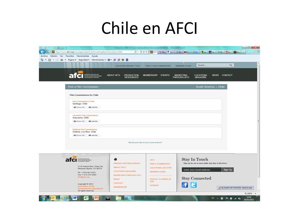 Chile en AFCI
