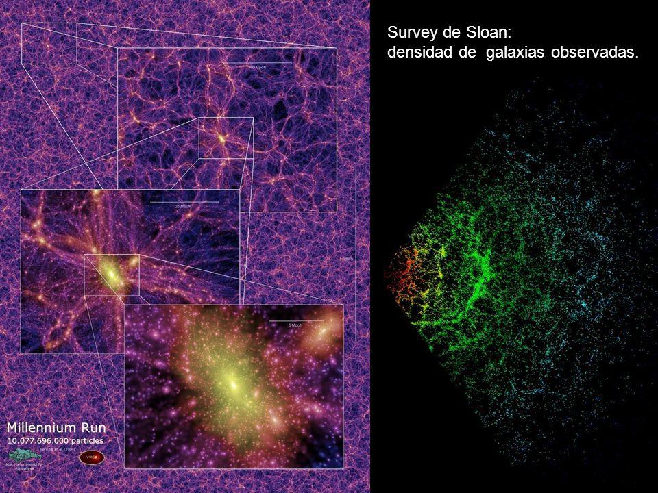 40 Survey de Sloan: densidad de galaxias observadas.
