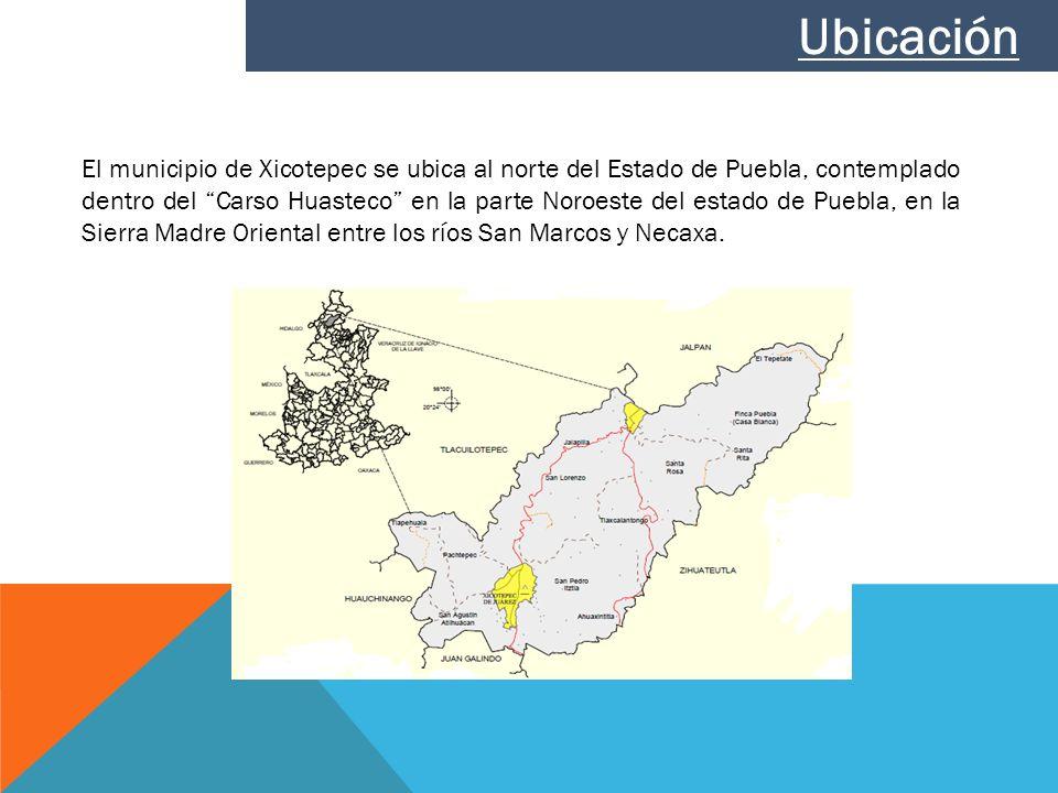 El municipio de Xicotepec se ubica al norte del Estado de Puebla, contemplado dentro del Carso Huasteco en la parte Noroeste del estado de Puebla, en