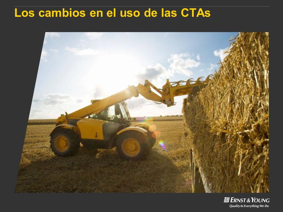 Los cambios en el uso de las CTAs
