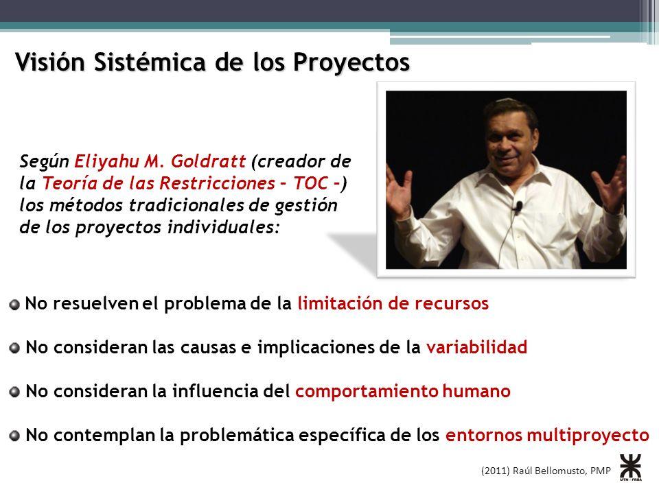 Visión Sistémica de los Proyectos No resuelven el problema de la limitación de recursos No consideran las causas e implicaciones de la variabilidad No