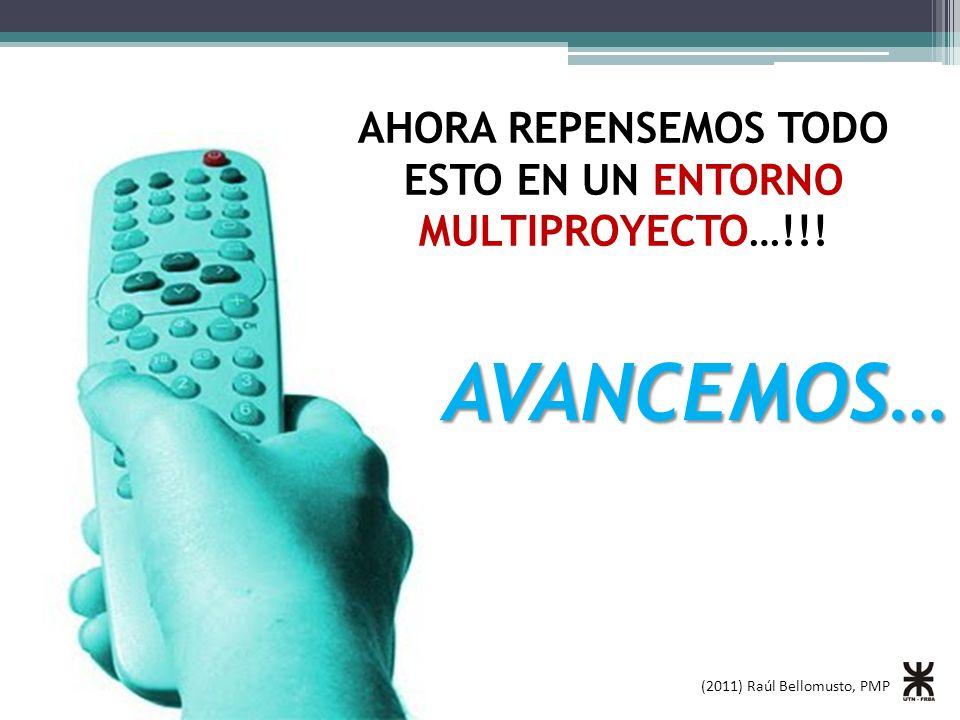 (2011) Raúl Bellomusto, PMP AVANCEMOS… AHORA REPENSEMOS TODO ESTO EN UN ENTORNO MULTIPROYECTO…!!!