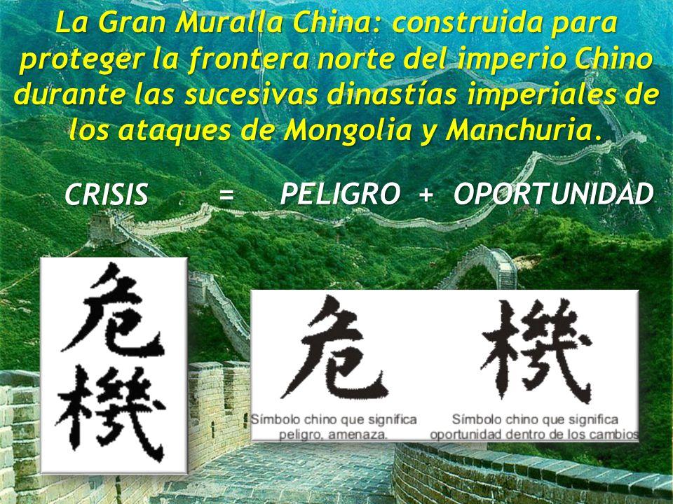 (2011) Raúl Bellomusto, PMP La Gran Muralla China: construida para proteger la frontera norte del imperio Chino durante las sucesivas dinastías imperiales de los ataques de Mongolia y Manchuria.