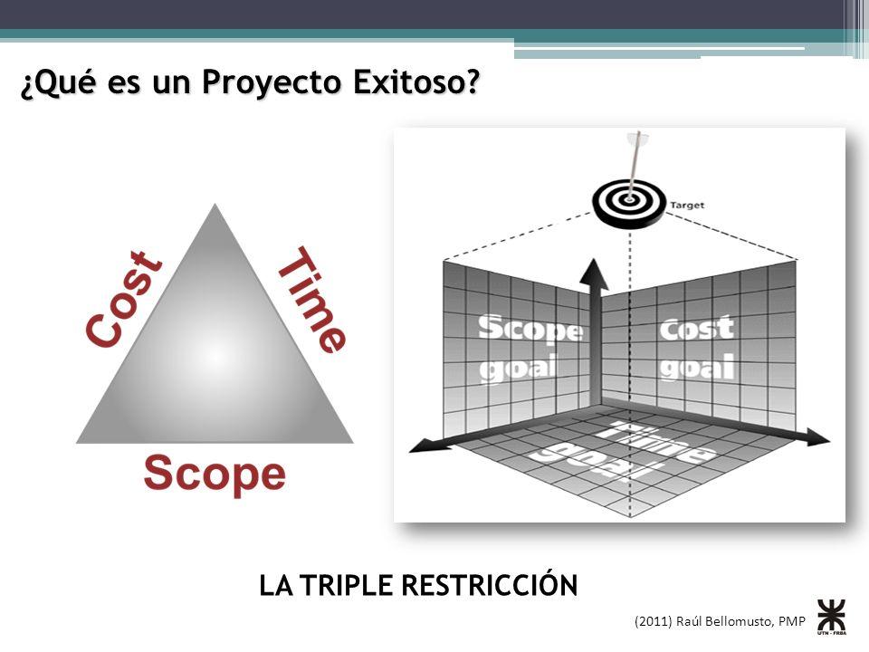 (2011) Raúl Bellomusto, PMP ¿Qué es un Proyecto Exitoso? LA TRIPLE RESTRICCIÓN