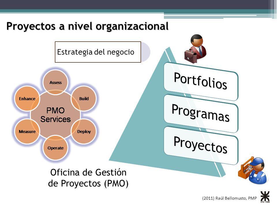 (2011) Raúl Bellomusto, PMP Proyectos a nivel organizacional Estrategia del negocio Oficina de Gestión de Proyectos (PMO)