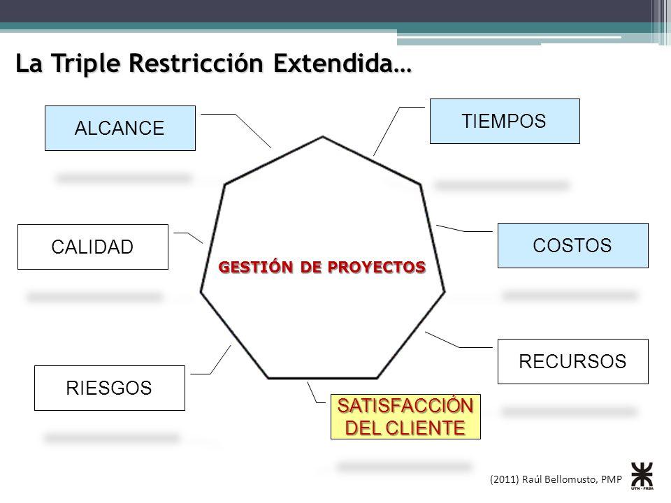 (2011) Raúl Bellomusto, PMP Generalmente, tratamos a cada uno de los proyectos como si fuesen islas…