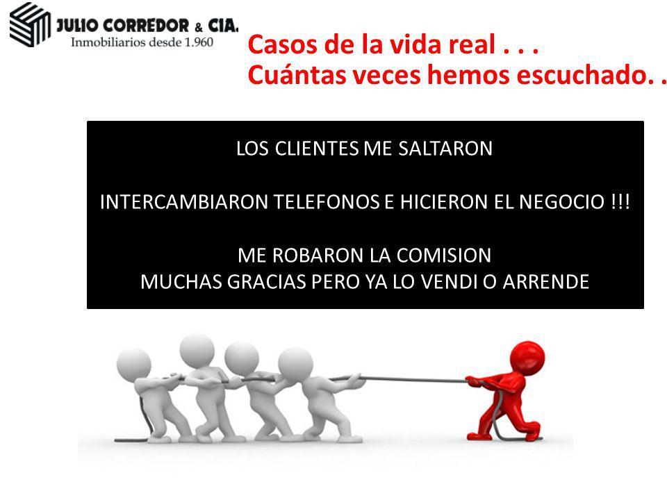 LOS CLIENTES ME SALTARON INTERCAMBIARON TELEFONOS E HICIERON EL NEGOCIO !!! ME ROBARON LA COMISION MUCHAS GRACIAS PERO YA LO VENDI O ARRENDE Casos de