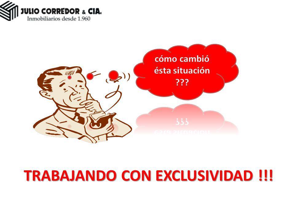 TRABAJANDO CON EXCLUSIVIDAD !!!