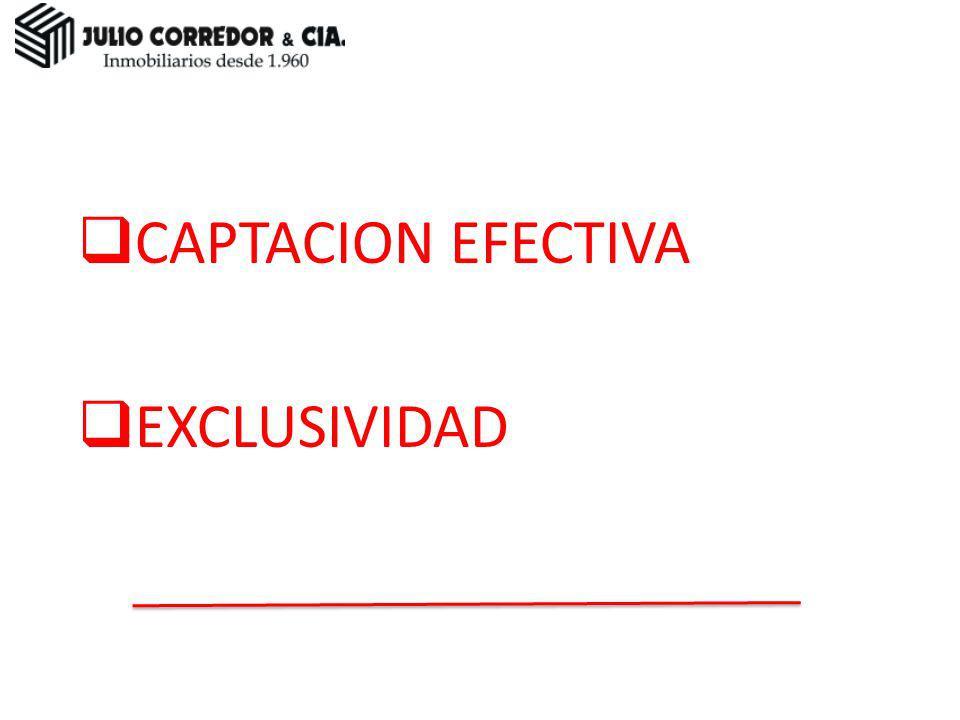 CAPTACION EFECTIVA EXCLUSIVIDAD