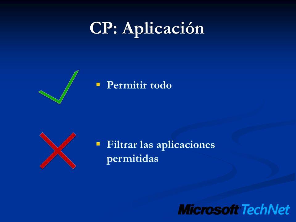 CP: Aplicación