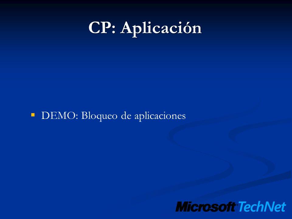 DEMO: Bloqueo de aplicaciones
