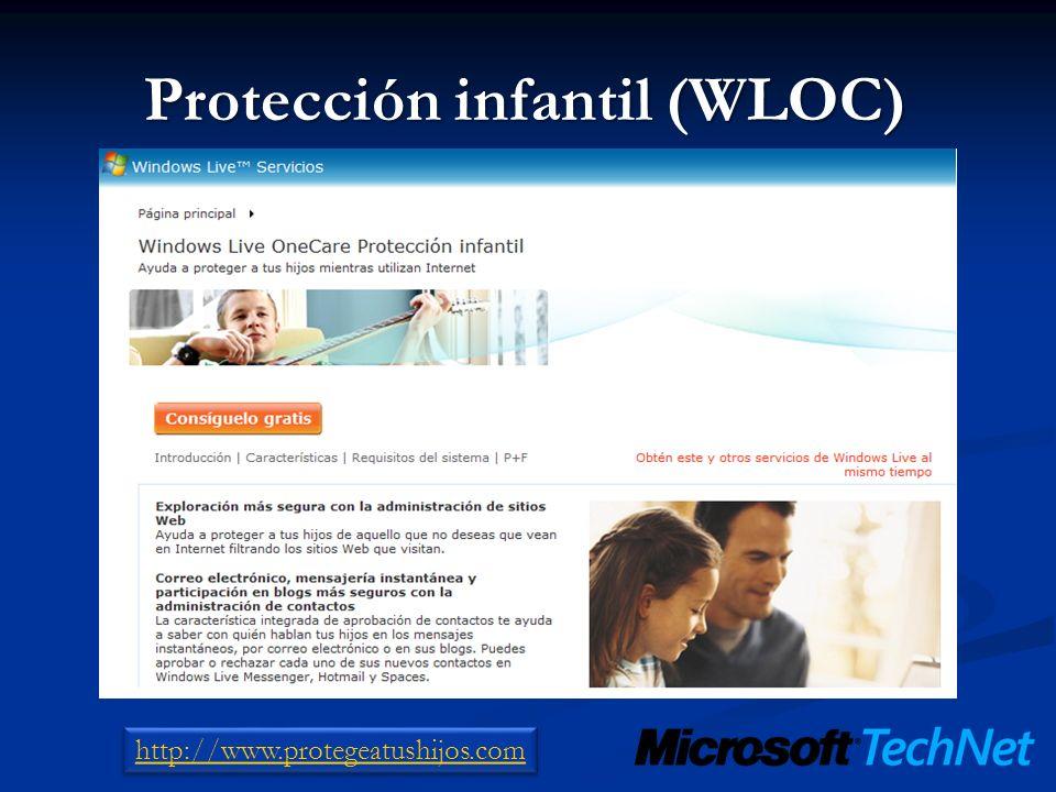 Protección infantil (WLOC) http://www.protegeatushijos.com