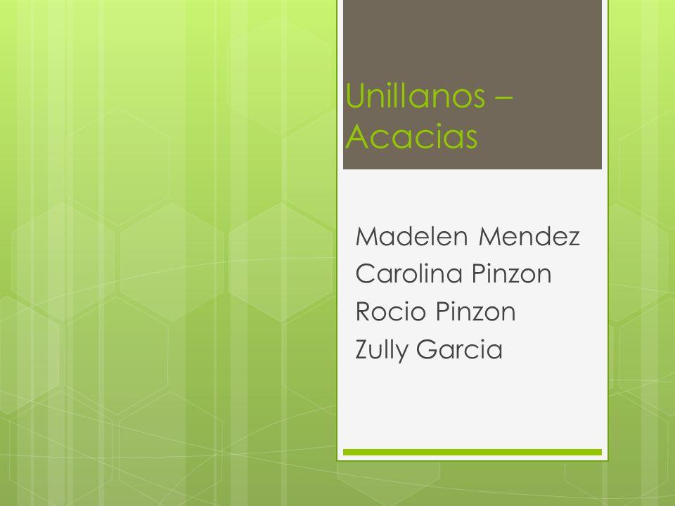 Unillanos – Acacias Madelen Mendez Carolina Pinzon Rocio Pinzon Zully Garcia