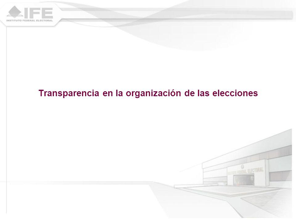 Transparencia en la organización de las elecciones