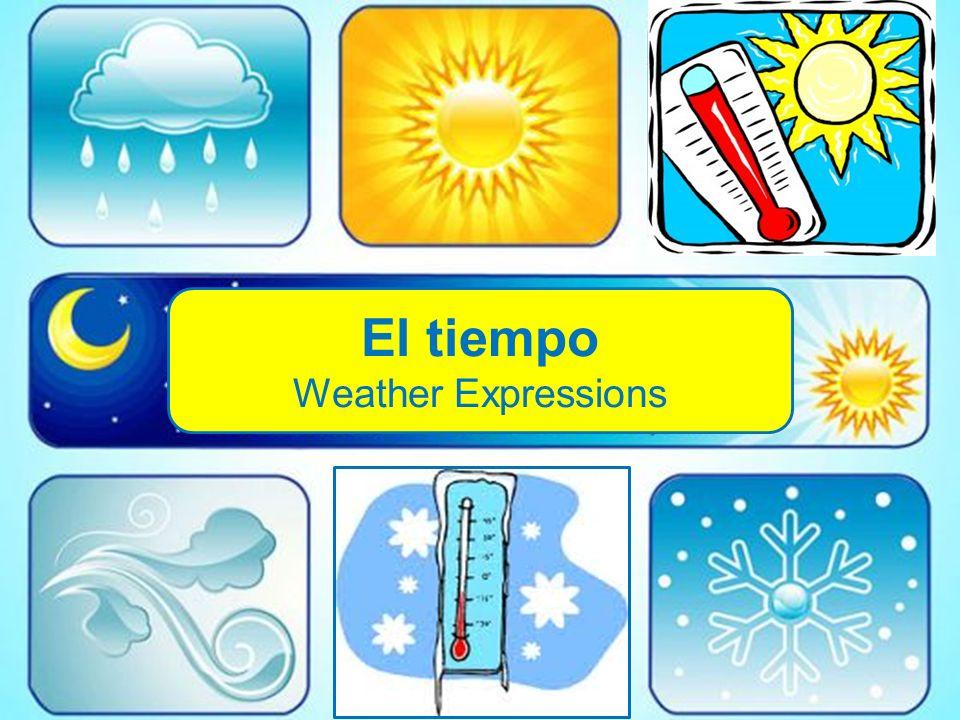 El tiempo Weather Expressions