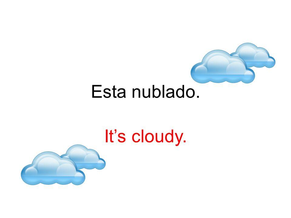 Esta nublado. Its cloudy.