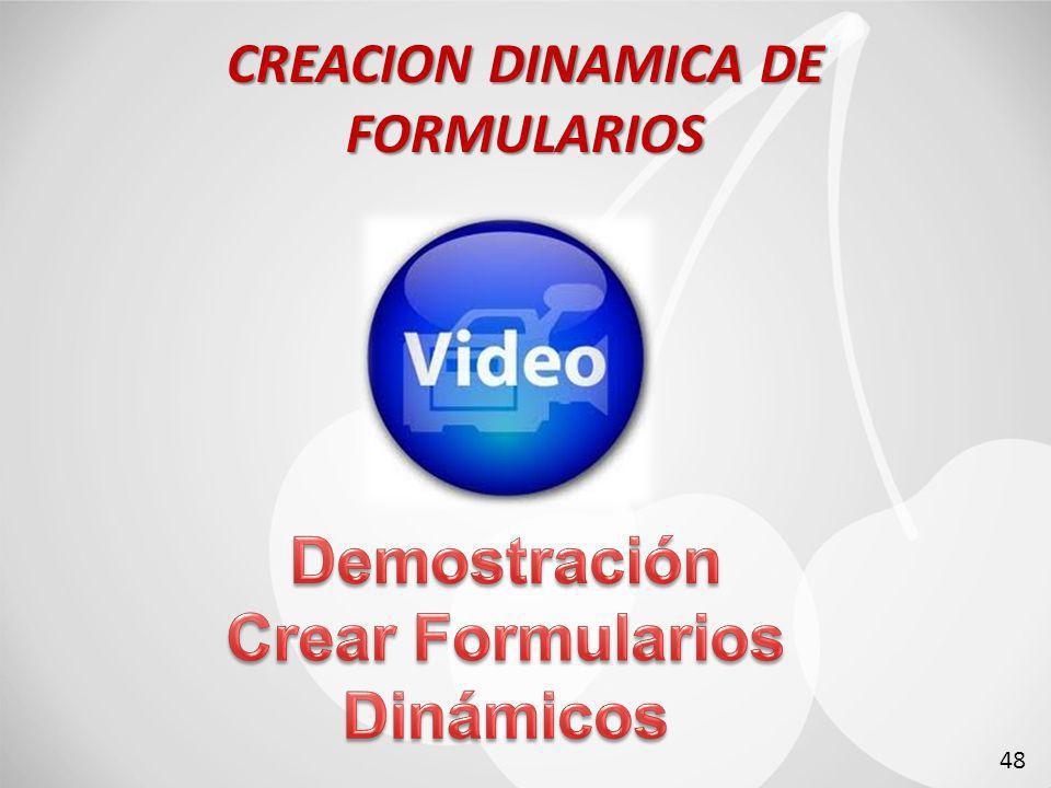 CREACION DINAMICA DE FORMULARIOS 48