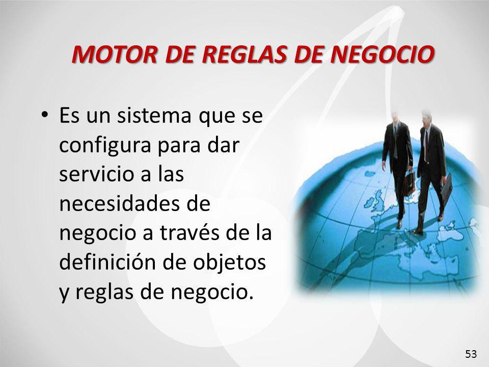 Es un sistema que se configura para dar servicio a las necesidades de negocio a través de la definición de objetos y reglas de negocio.