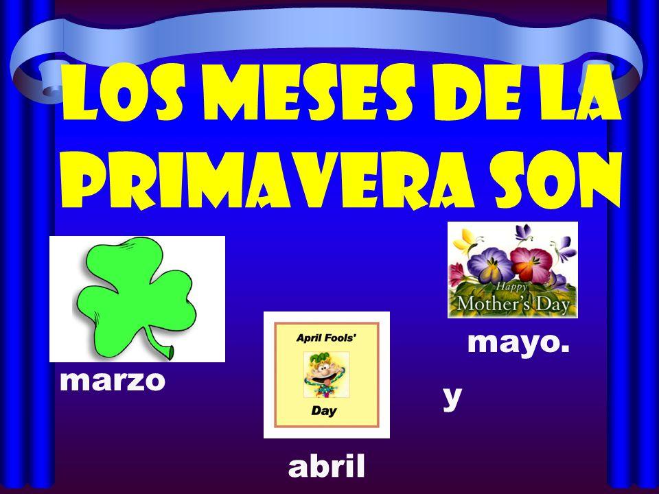 Los meses de la primavera son y marzo abril mayo.