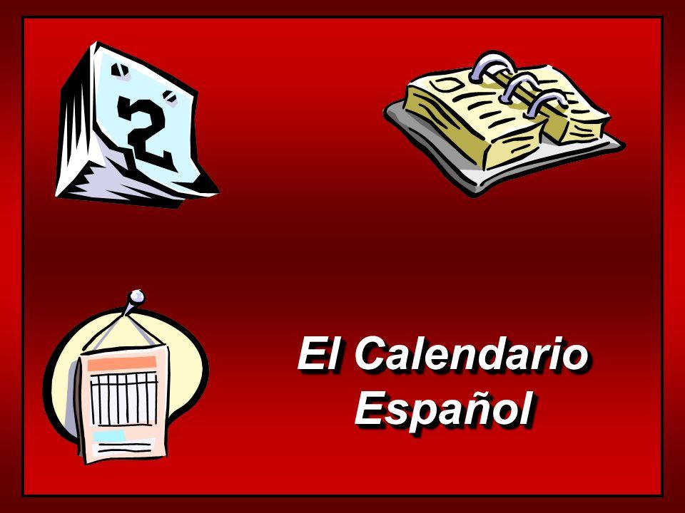 Los Días de la Semana el lunes el martes el miércoles el jueves el viernes el sábado el domingo days of the week are not capitalized all days are masculine use el or los to say on… only sábado and domingo have plurals los sábados los lunes los domingos los martes the Hispanic calendar begins el lunes days of the week are not capitalized all days are masculine use el or los to say on… only sábado and domingo have plurals los sábados los lunes los domingos los martes the Hispanic calendar begins el lunes
