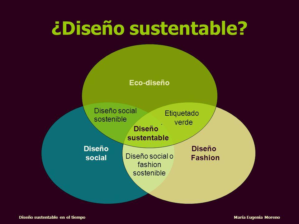 Diseño sustentable en el tiempo María Eugenia Moreno Diseño social Diseño Fashion Eco-diseño Diseño sustentable Diseño social sostenible Diseño social