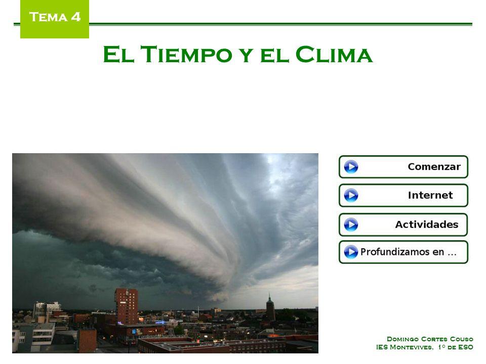 Domingo Cortes Couso IES Montevives, 1 º de ESO El Tiempo y el Clima Tema 4