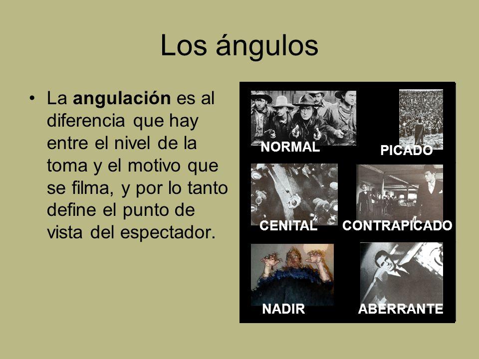 Los ángulos La angulación es al diferencia que hay entre el nivel de la toma y el motivo que se filma, y por lo tanto define el punto de vista del esp