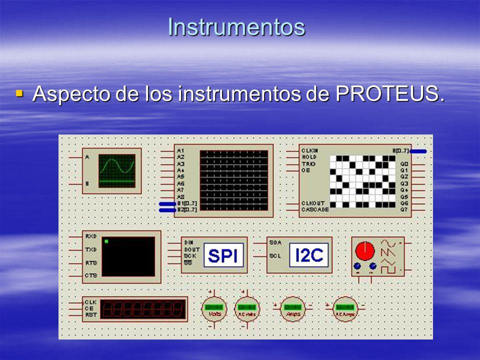 Instrumentos Aspecto de los instrumentos de PROTEUS. Aspecto de los instrumentos de PROTEUS.