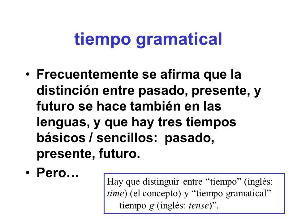 tiempo presente sencillo en español Con verbos estativos: generalmente preferido Conoce esta zona muy bien desde hace mucho tiempo.